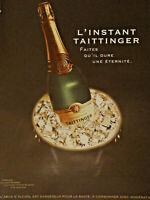 PUBLICITÉ DE PRESSE 2002 L'INSTANT TAITTINGER GRAND CHAMPAGNE - ADVERTISING