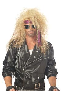 Heavy Metal Rocker Blonde Wig for Halloween Costume