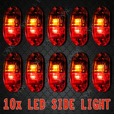 10 x 12V 24V LED RED AMBER MARKER LAMPS -Boat/Caravan/Trailer Clearance Lights