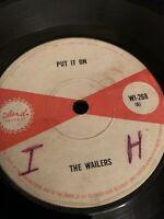 THE WAILERS Put It On ISLAND 45, SKA REGGAE ORIG RECORD RARE VINYL
