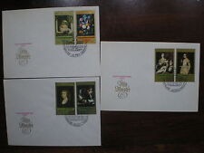 PAINTINGS FDC cover 1973 GDR Germany complete set Dresden gallery Tizian Rubens
