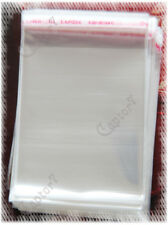 50 BUSTINE TRASPARENTI BUSTE adesive PLASTICA 8,6 x 5,9 cm (dimensioni esterne)