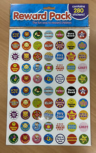 280 Assorted Reward Stickers for Children - contains 4 sheets - Free P&P!