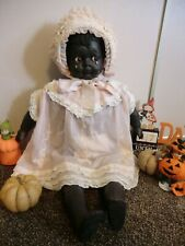antique Black crying  doll reproduction in Leo Moss manner,huge 28 inch