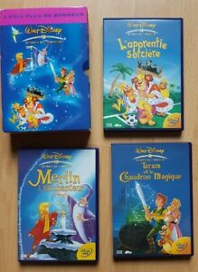 MERLIN L'ENCHANTEUR + L'APPRENTIE SORCIERE + TARAM COFFRET 3 DVD DISNEY ENFANT