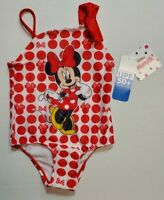 Disney Minnie Mouse Toddler Girls Swimsuit 2T 3T 4T 5T Polka Dot UPF 50+ NWT