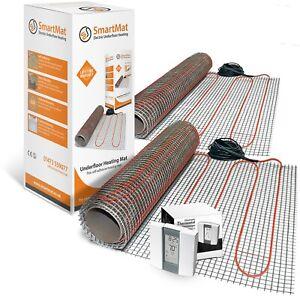 SmartMat 100w/m2 20.0m2 2000w Underfloor Heating Kit + Aube TH232 Thermostat