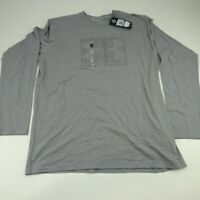 Under Armour HeatGear Mens Long Sleeve Black Shirt Top Gray Size XL NWT