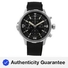 IWC Aquatimer Acero Cronógrafo Esfera Negra Día Fecha Reloj Para hombres Automático IW376803