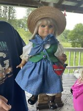 """ENGEL PUPPE 17"""" Doll With Hat And Stand. West Germany"""