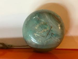 Duncan Imperial Topps Vintage Yo-Yo Blue/Green Swirl Bakelite Beauty!