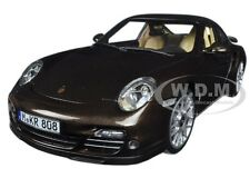 2010 PORSCHE 911 TURBO BROWN METALLIC 1/18 DIECAST MODEL CAR BY NOREV 187622