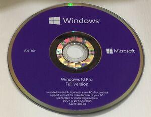 Windows 10 64Bit Full Versions Re-Installation Repair DVD Disc.