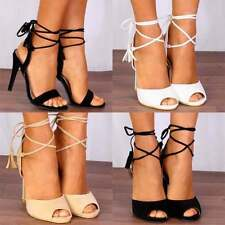 Unbranded High (3 in. to 4.5 in.) Lace Up Heels for Women
