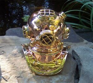 Copper & Brass Reproduction Navy Divers Helmet