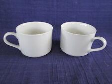 Sango Elite White COFFEE CUPS - SET of TWO (2)