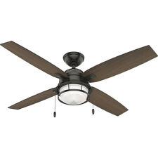 Hunter Ocala 52 Inch Indoor/Outdoor Ceiling Fan w/ LED Light, Noble Bronze