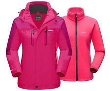 Women Winter Outdoor Skiing Snowboard Jacket Fleece Lined Thermal Warm Outwear
