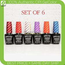 OPI GelColor Kit: SET OF 6 Any Soak Off Gel Nail Colour UV Led Lot >> Ship 24h