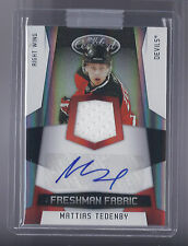 10-11 Pani Certified Hockey Mattias Tedenby Red Freshman Fabric Auto Card 28/100
