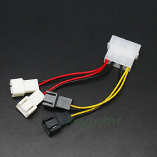 PC Fan 4-Pin Convert to 2pin/3pin (2x12V) (2x5V) Y-Splitter Cable Connector
