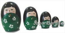 5pc Wooden Geisha Kokeshi Nesting Matryoshka Doll MD2/G S-1647