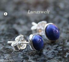 Sehr schöne Ohrstecker Lapis Lazuli in Silber gefasst