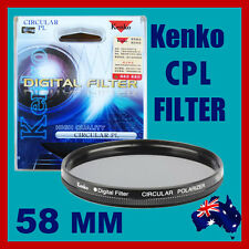 100% Genuine 58mm Kenko  CPL Filter High Quality for Canon Nikon Sony