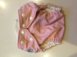 Pink fuzzibunz onesize elite pocket diaper with 2 minky inserts