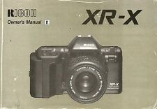Ricoh XR-X Original Instruction Book, User Manual, Guide, Instructions