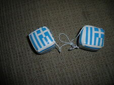 Greece Rear View Mirror Dice Set - New