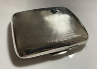 Superb Art Deco 1939 Birmingham Hallmarked Silver  Curved Cigarette Case 67g