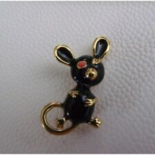 mouse pin, vintage D'orlan black and gold