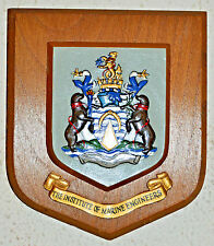 Institute of Marine Engineers wall plaque shield coat of arms crest institution