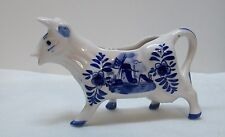 Cow Creamer Delfts Blue and White Porcelain Hand Painted Delft Blue Vintage