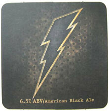 BLACK LIGHTNING ALE 6.5% Alc/Vol Beer COASTER, Mat, DuClaw, MARYLAND 2010