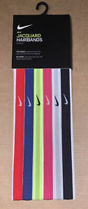 Nike Jacquard Sport Headbands Assorted 6 Pack Red/Pink/Blue New A2