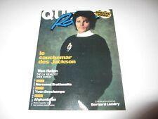 MICHAEL JACKSON on cover Quebec Rock magazine April 1984 Van Halen rare French