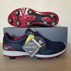 Ecco Biom G2 BOA GORE-TEX Golf Shoes True Navy Brick Made With Yak Leather NIB!