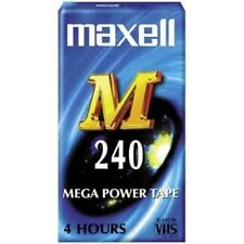 10PKT BLANK VHS TAPES VCR VIDEO CASSETTE TAPES MAXELL TAPE E240 4 HOUR BRAND NEW