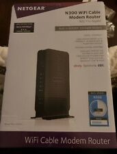NETGEAR N300 WiFi Cable Modem Router C3000