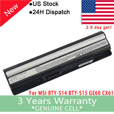 6 Cell 5200mAh Battery For MSI GE60 GE70 Series CR41 CX61 CR70 BTY-S14 BTY-S15