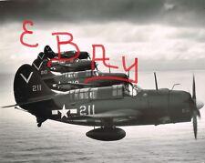 WWII 11x14 PHOTO  US NAVY  USS TICONDEROGA HELLDIVERS IN FLIGHT ACTION LOOKK