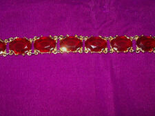 Glass Gold Plated Bracelet Vintage Costume Jewellery (1950s)