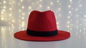 Sommerhut Schlapphut Traveller Red Hat Cowboyhut Wild West Cowgirl Unisex