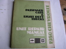 1980 Chevrolet PKW u. Pickup Unit Repair Manual Werkstatthandbuch Light Trucks