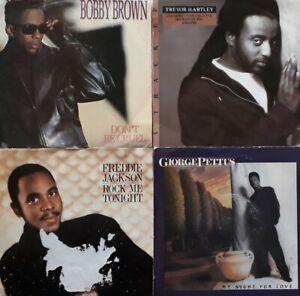 "Job Lot/Bundle Of 4 Vinyl 7"" Singles.Bobby Brown/Trevor Hartley/Freddie Jackson+"