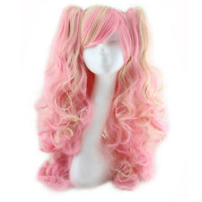 Harajuku Anime Cosplay Hair Wigs Girls Ombre Color Long Wave Curly Synthetic Wig