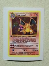 Pokemon 1St Edition Base Set Charizard 4/102 Vinyl Decal Sticker Card Size