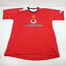 MANCHESTER UNITED 2002/2003/2004 HOME FOOTBALL SHIRT JERSEY Rooney VODAFONE